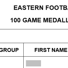 100 Game Medal Form