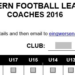 Coaches Form