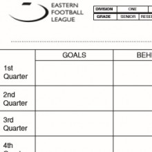 Goal Umpire Scorecard Form
