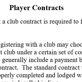 Std Player Contract Form