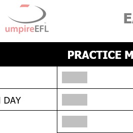 Umpires Booking Form