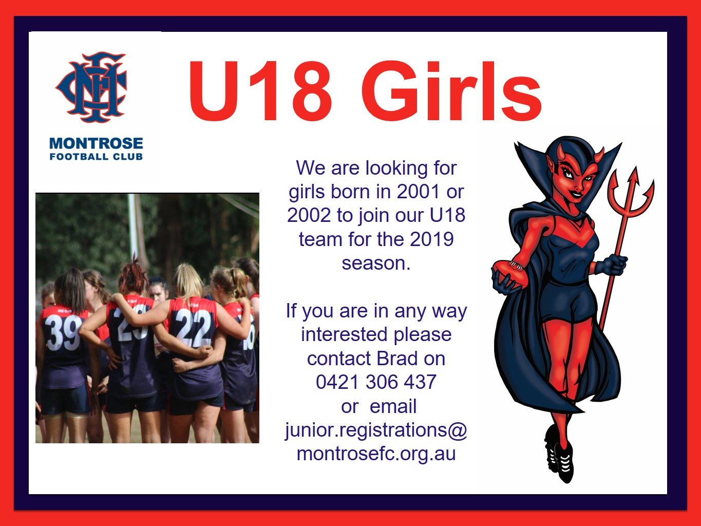 MONTROSE SEEKS UNDER-18 GIRLS | Footy EFLFooty EFL